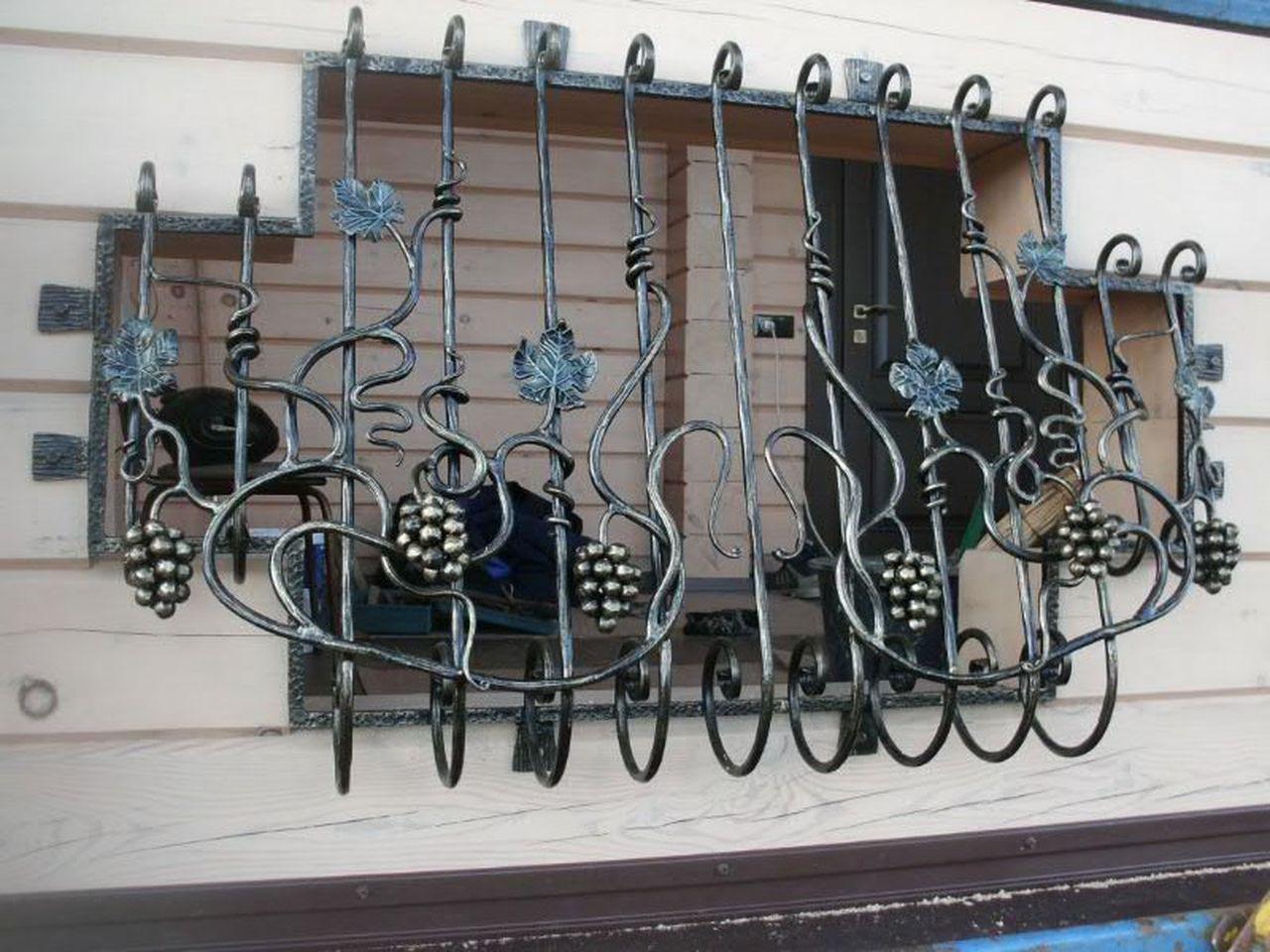 Кованые решетки на окна Цена фото Наковали