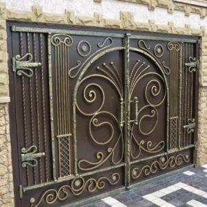 Кованые ворота в Алексине