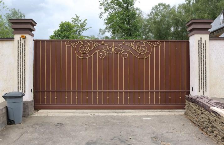 Кованые ворота откатные 1