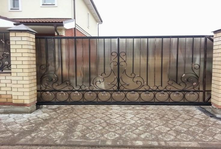 Кованые ворота откатные №23 Цена: 9300 руб/м2