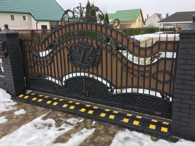 Кованые ворота откатные цена: 15600 руб/м2