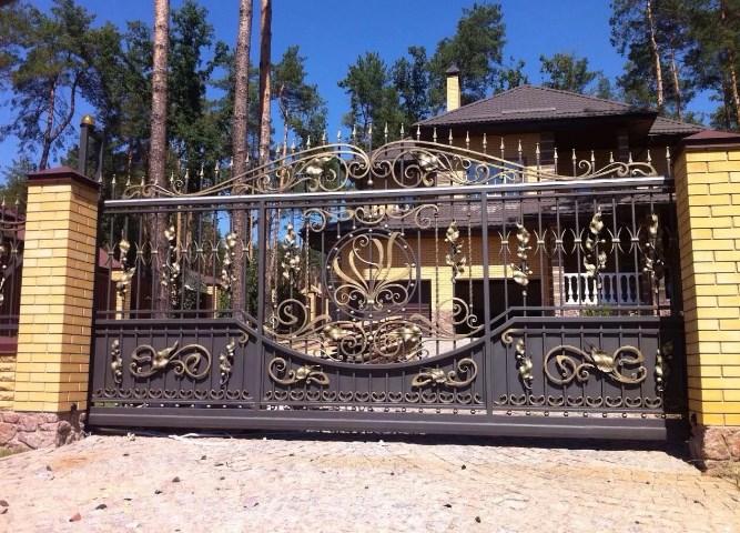 Кованые ворота откатные цена: 12500 руб/м2