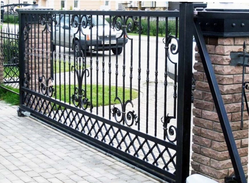 Кован-сварные ворота откатные №44 Цена: 9400 руб/м2
