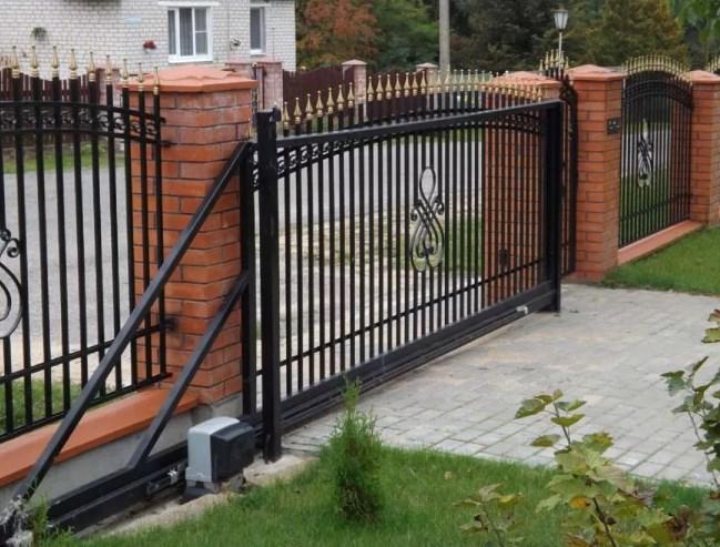 Кован-сварные ворота откатные №47 Цена: 8500 руб/м2
