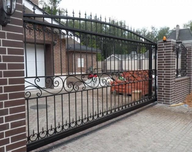 Кован-сварные ворота откатные №50 Цена: 8400 руб/м2