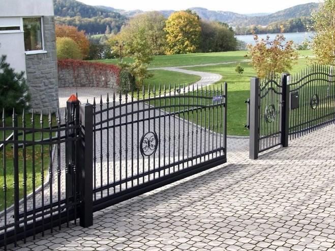Кован-сварные ворота откатные №44 Цена: 8500 руб/м2