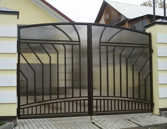 Кован-сварные ворота распашные №57 Цена: 9200 руб/м2