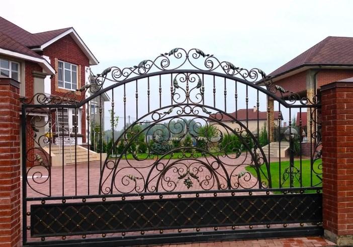 Кованые ворота откатные цена: 12700 руб/м2