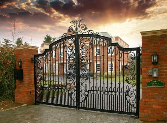 Кованые ворота распашные с калиткой №7 Цена: 13800 руб/м2