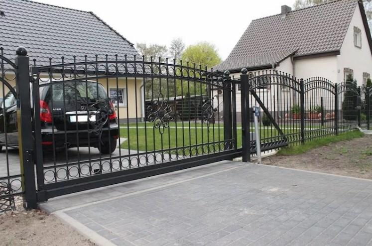 Кован-сварные ворота откатные