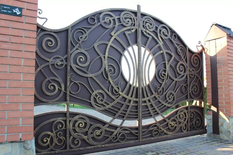 Откатные ворота кованые Наковали