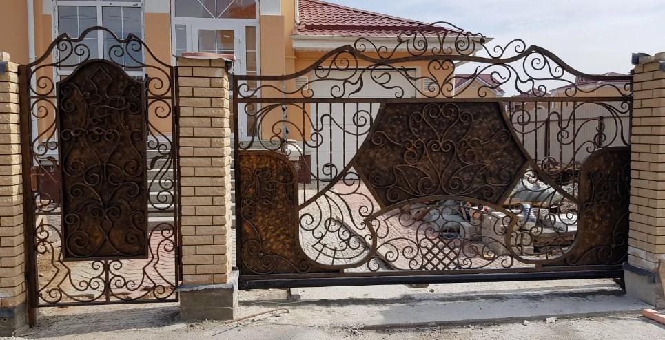 Кованые откатные ворота эксклюзивные цена Наковали