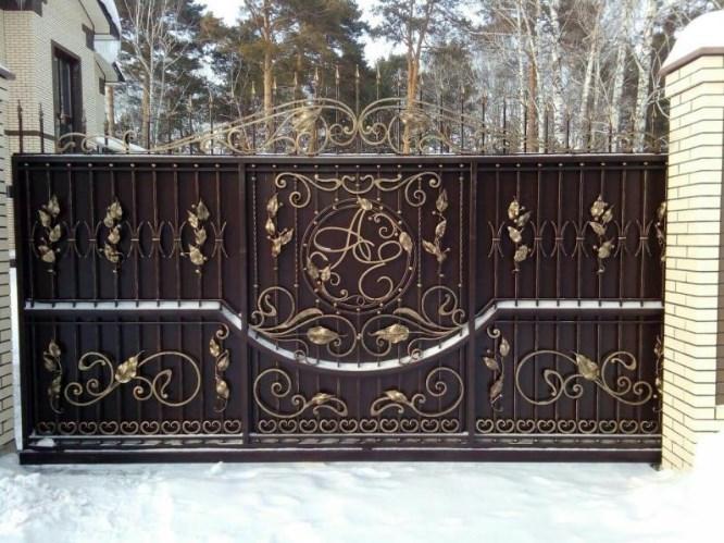 Кованые откатные ворота где купить Наковали