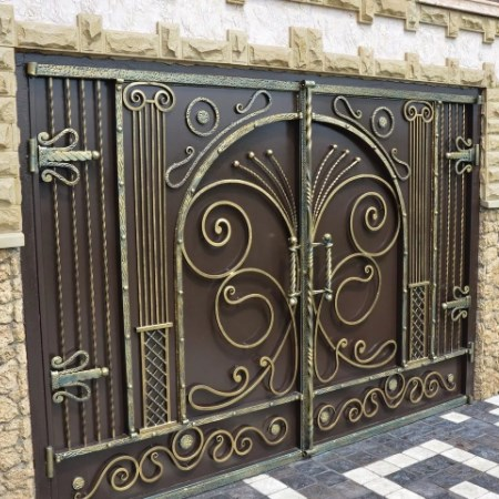 Кованые ворота цена фото Наковали