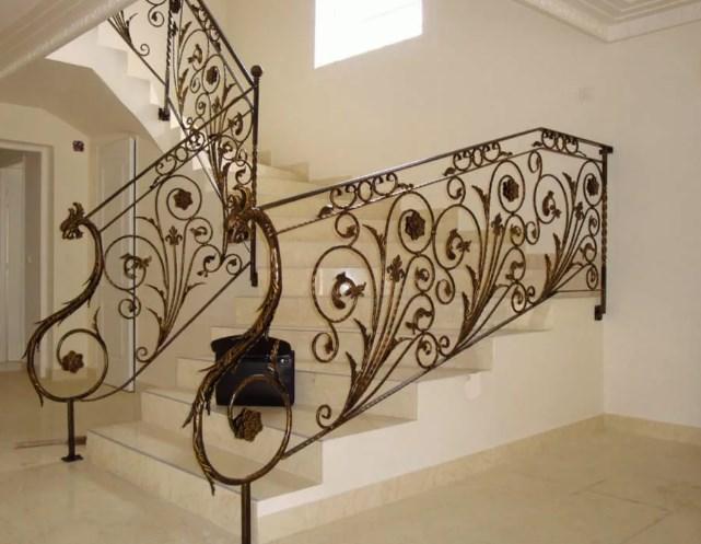 Кованые перила для лестницы Красивые от Наковали