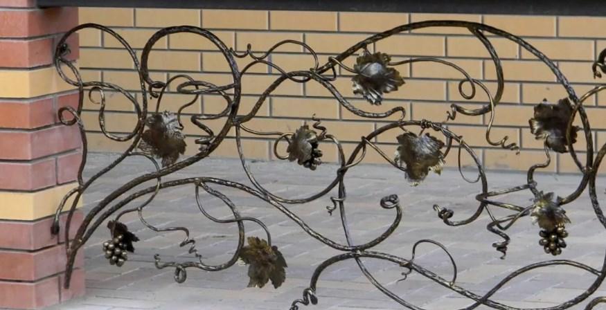 Кованые ограждения на террасу виноградная лоза цена Наковали