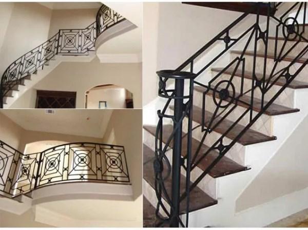 Сварные перила винтовые для лестницы с геометрией Наковали