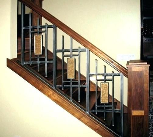 Сварные перила винтовые для лестницы с геометрией 20