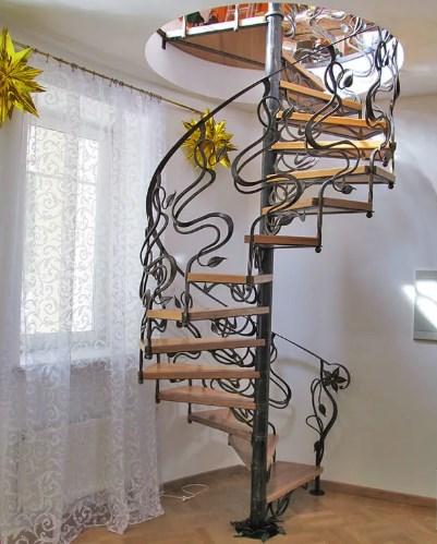 Кованая винтовая лестница цена от Наковали