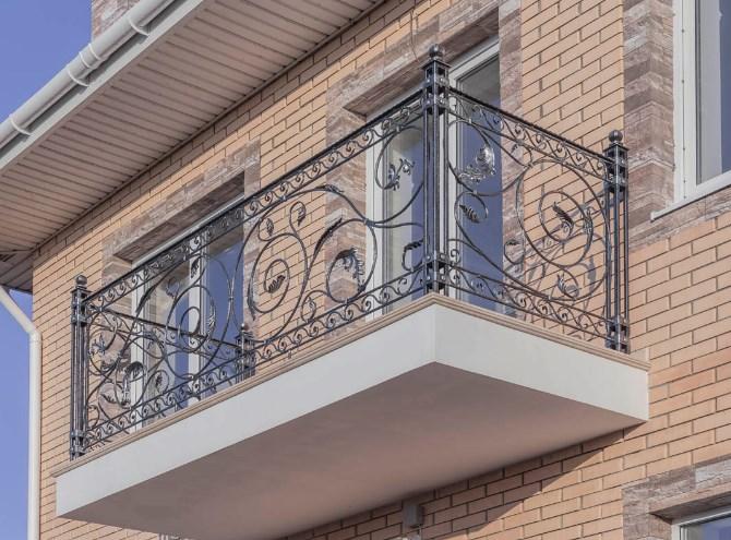 Кованое ограждение перила для балкона цена от Наковали