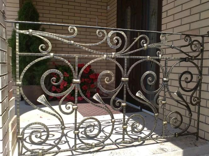 Кованые перила для балкона, фото цена от Наковали