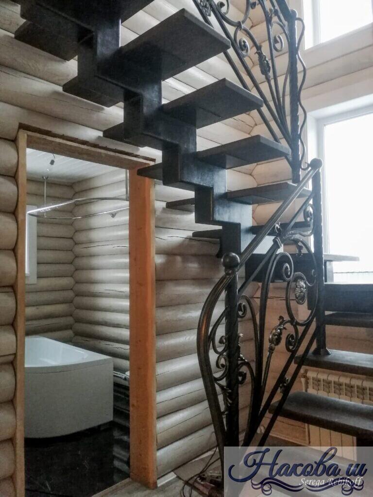Кованые перила для лестницы от Наковали