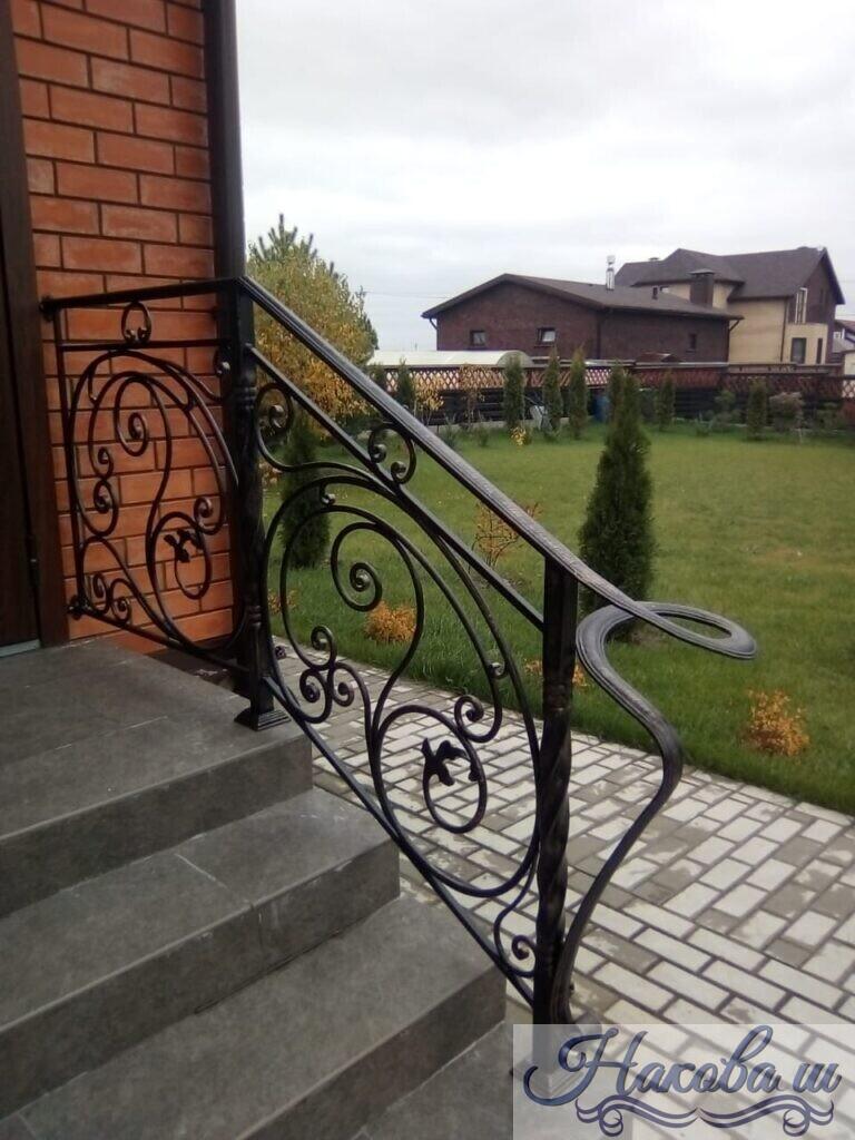 Кованые перила для входной лестницы от Наковали