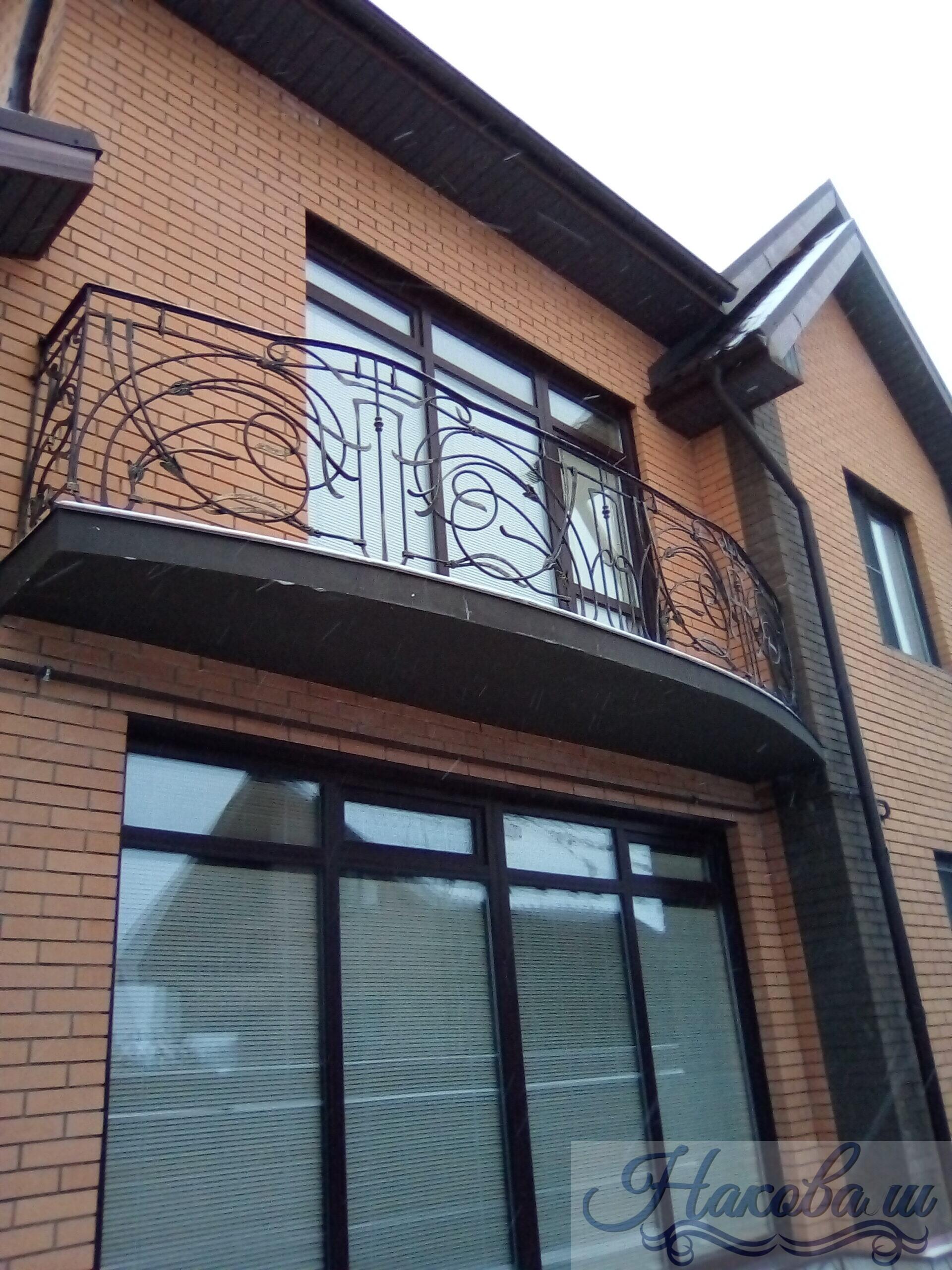 Кованые перила для балкона 014