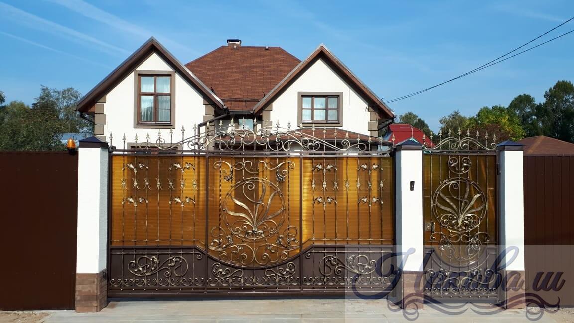 Кованые ворота, калитка и забор — наши работы