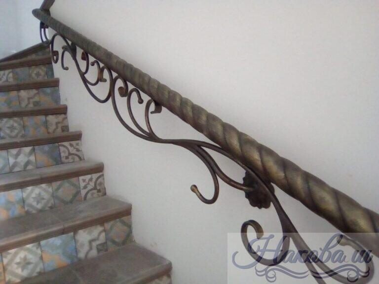 Кованые перила с витой трубой от Наковали