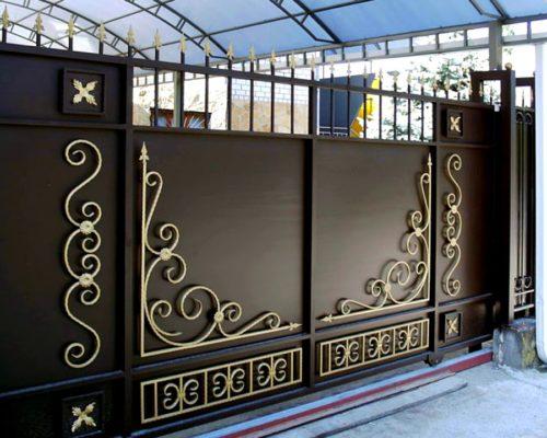 Кованые ворота красивые от Наковали
