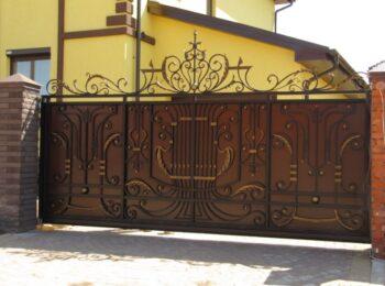 Кованые откатные ворота геометрия цена Наковали