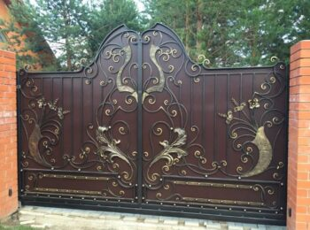 Кованые откатные ворота красивые цена Наковали
