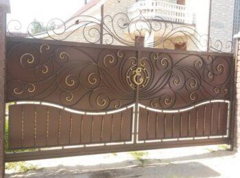 Кованые откатные ворота красивые с ценой Наковали