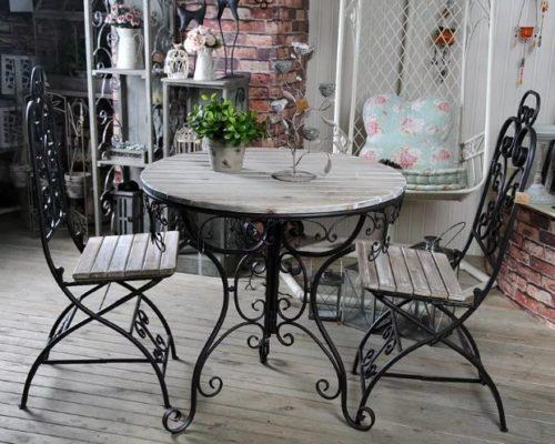 Кованый стол и стулья кованая мебель от Наковали