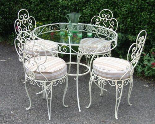 Кованый стол и стулья кованая мебель от Наковали1