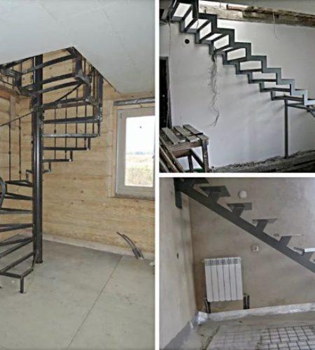 Металлокаркас лестницы с ковкой наковали 10