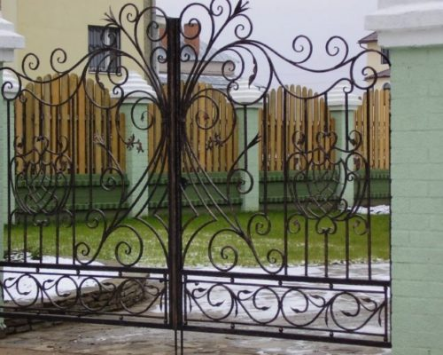Кованые ворота ручной работы Наковали