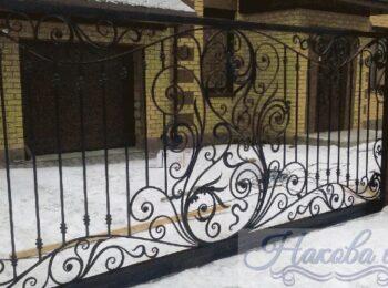 Кованые ворота откатные 14