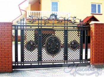Кованые ворота откатные 38