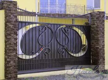 Кованые ворота откатные 41