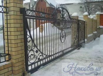 Кованые ворота откатные 46