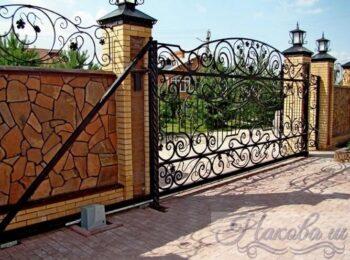 Кованые ворота откатные 47