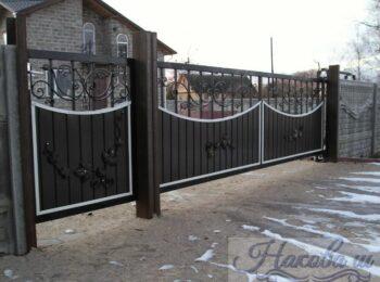 Кованые ворота откатные 50