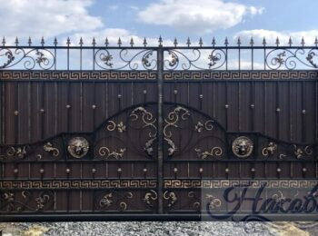 Кованые ворота откатные 57