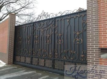 Кованые ворота откатные 61