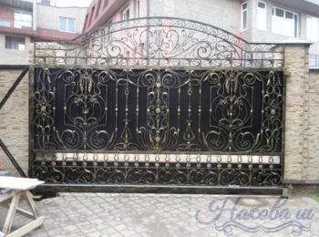Кованые ворота откатные 63