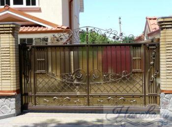 Кованые ворота откатные 67