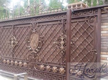 Кованые ворота откатные 68