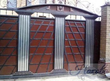 Кованые откатные ворота в 3д от Наковали
